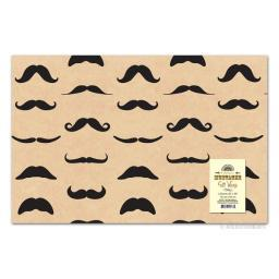 Mustache Wrapping Paper Gift Wrap For Presents Christmas Birthday Funny