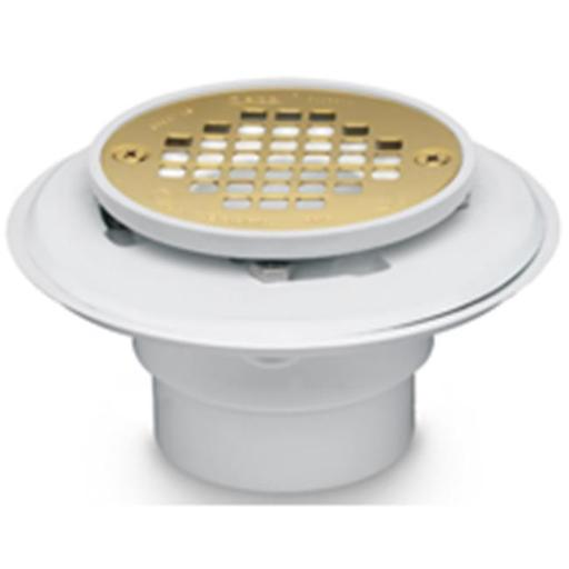 Oatey 42404 Shower Drain Brass 2-3 In.