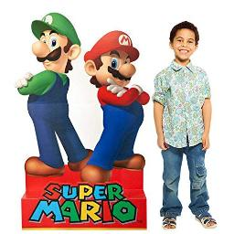 Birthday Express Super Mario Party Supplies - Mario & Luigi Life Size Cardboard Standup Combo Kit