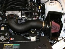 Airaid 05-09 Ford Mustang 4.6L Race Only (No MVT) MXP Intake System w/ Tube (Oiled / Red Media) 450-304