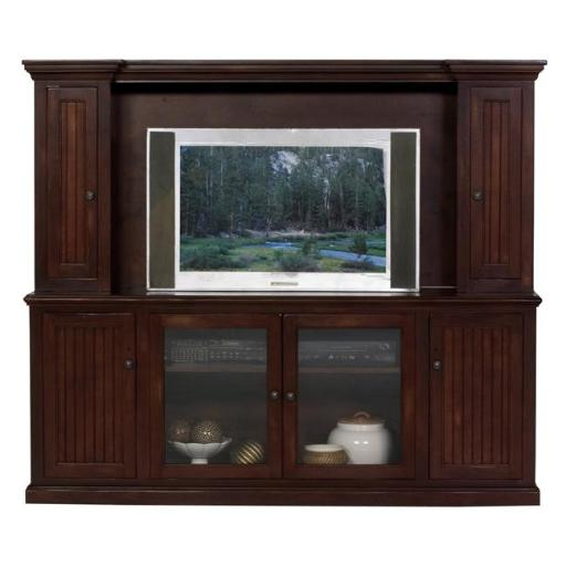 Eagle Furniture 72515WPSS-72516PLSS Coastal 82.5 in. Entertainment Console & Hutch with 54 in. Opening, Summer Sage
