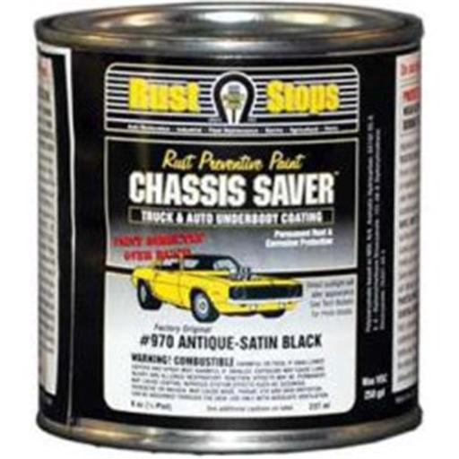 Magnet Paint & Shellac UCP970-16 8 oz Chassis Saver Paint, Stops & Prevents Rust - Satin Black
