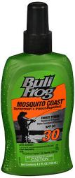 Bullfrog Mosquito Coast Sunscreen With Insect Repellent Spray Spf 30 - 4.7 Oz, Pack Of 4