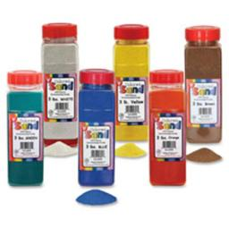 Hygloss Products HYX29302 Colored Sand, White