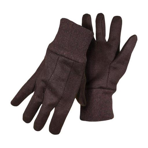 Boss Manufacturing 7798911 Mens Indoor & Outdoor Cotton Polyester Jersey Brown Work Gloves, Extra Large - Pack of 12