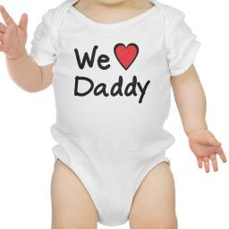 We Love Dad White Cute Baby Onesie Cotton Fathers Day Gifts For Dad