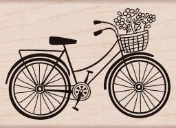 """Hero Arts Mounted Rubber Stamp 2.75""""X2"""" Bicycle"""