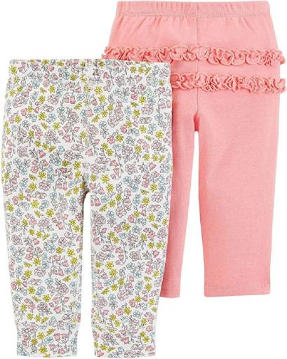 Carters Baby Girls 2-Pack Pants
