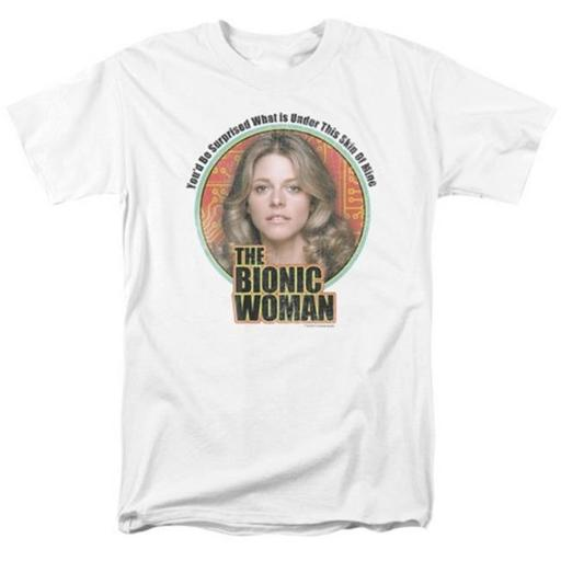 Trevco Bionic Woman-Under My Skin Short Sleeve Adult 18-1 Tee, White - Medium ESOVQDHGIWPLZOAW