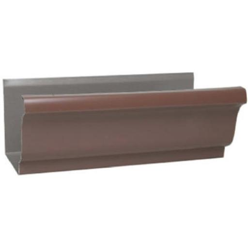 Amerimax Home Products 1800719120 4 in. Brown Galvanized Steel Gutter - Pack of 10