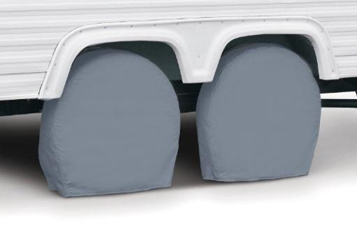 Tire Cover Single Tire Cover For 26-3/4 Inch To 29 Inch Diameter Tires Slip On Gray Vinyl Pack Of 2