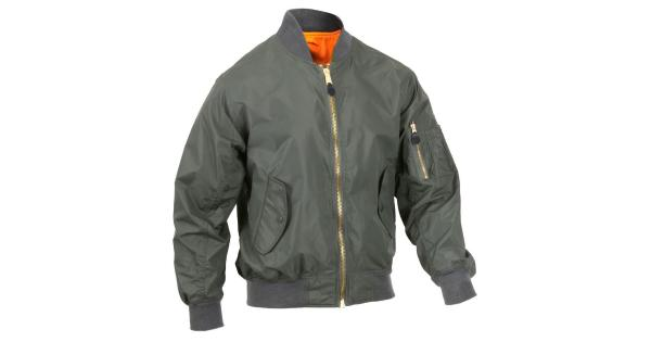 bcd2817ae Rothco Lightweight MA-1 Flight Jacket Military Bomber Jacket, Sage Green -  MassGenie