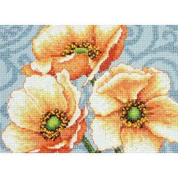 """Windflowers Mini Counted Cross Stitch Kit-7""""X5"""" 14 Count 70-65139"""