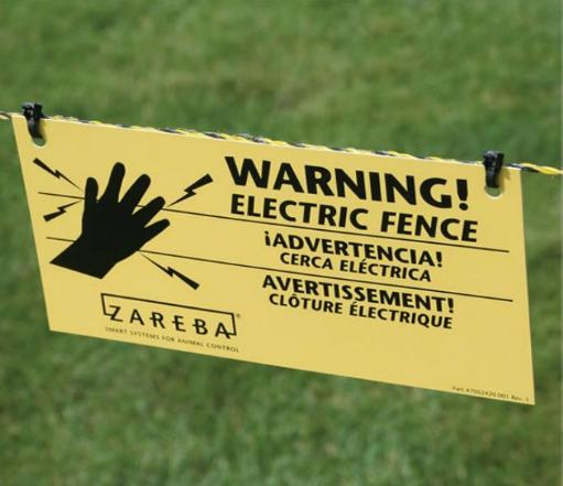Zareba Ws3 Electric Fence Warning Sign, 4