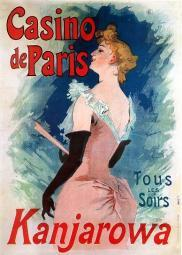 Vintage French Advertising Art Casino de Paris Poster Print DOM9FR01555