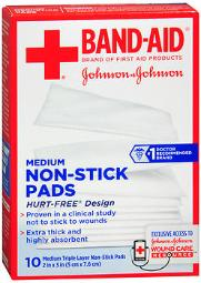 Band-aid Non-stick Pads Medium 2 Inch X 3 Inch - 10 Ct, Pack Of 4
