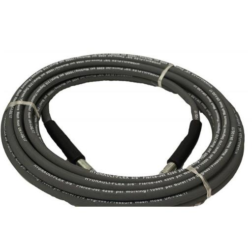 Hydrauli-Flex PW106-GY-100 0.375 in. Fierce Jet Pressure Washer Hose 100 ft. 1-Wire 4200 psi 310 Degrees