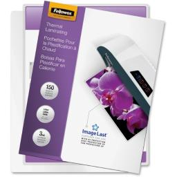 Fellowes, inc. 5200509 laminating letter pouch 3mil 150pk