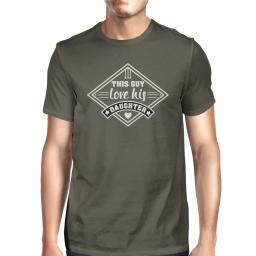 This Guy Love His Daughter Mens Dark Gray Tee Perfect New Dad Gifts