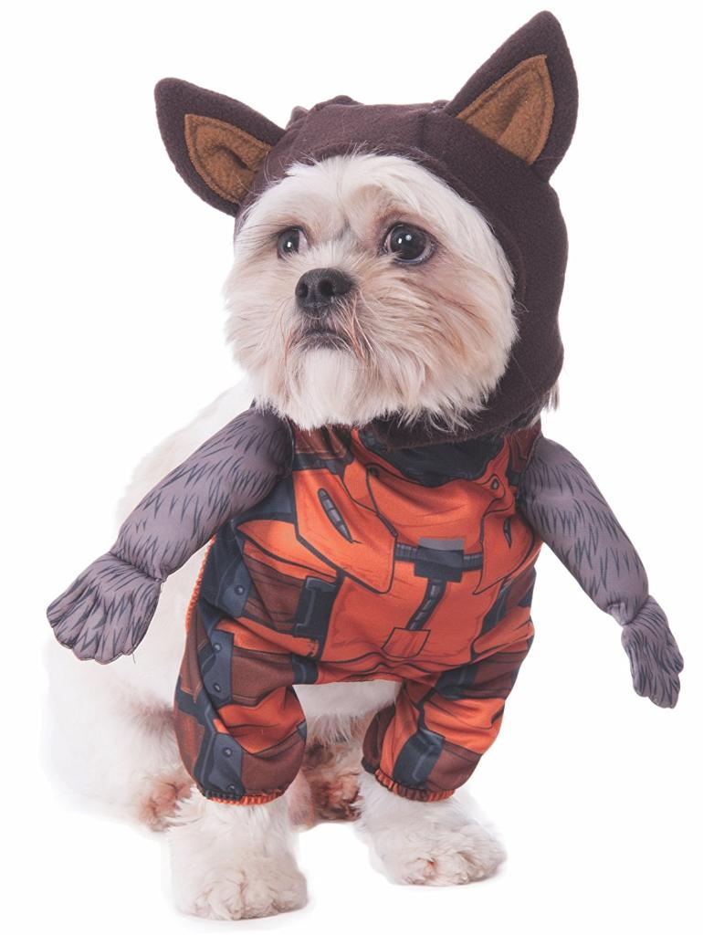 Rocket Raccoon Pet Costume Dog Cat Halloween Marvel MCU Guardians Of the Galaxy