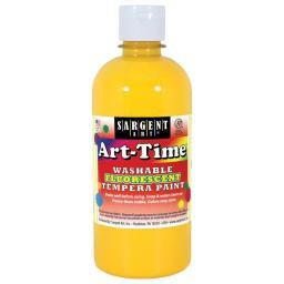 Washable Art-Time(R) Fluorescent Tempera Paint 10oz Yellow