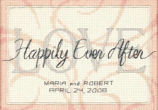 """Happily Ever After Wedding Record Mini Counted Cross Stitch-7""""X5"""" 14 Count ZNGJE81M6UXDIBIH"""