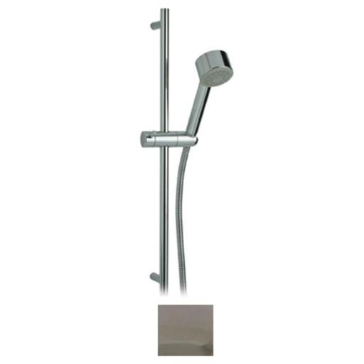 Whitehaus Collection WHLX78129-PC 20.62 in. Metrohaus shower set includes slidebar, hand held shower and hose- Polished Chrome