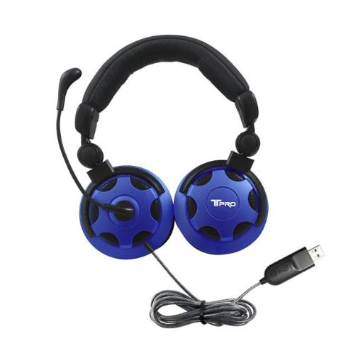 Hamilton Electronics & Buhl Industries TP1-USB T-PRO USB Headset with Noise-Cancelling Microphone Custom-Made for School Testing
