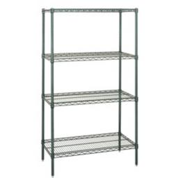 Quantum Storage WR86-1860P Proform Wire Shelving Unit with 4 Shelves - 18 x 60 x 86 in.