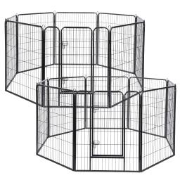 "Yescom 16 Pieces 31""x39"" Pet Playpen Extra Large Dog Exercise Fence Panel Crate Yard"
