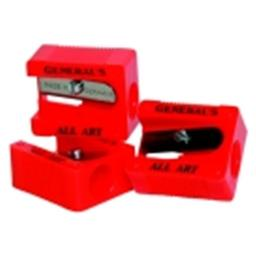 Generals Little Red All-Art 1-Hole Pencil Sharpener - Red, Pack 18