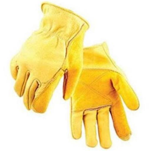 Salt City Sales 239877 Mens Double Palmed Cowhide Driver Gloves, Large