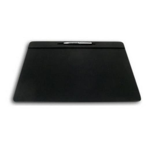 Black Leatherette 17x14 Conference Table Pad with Pen Well