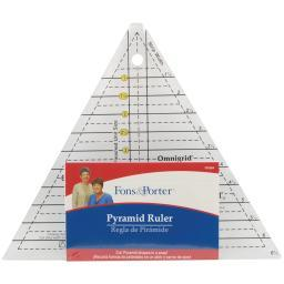 "Fons & Porter Pyramid Ruler 1"" To 6"""