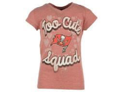 "Tampa Bay Buccaneers NFL Girls 5th & Ocean ""Too Cute Squad"" Tee"