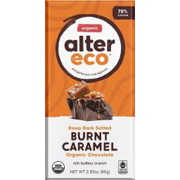 Alter Eco - Organic Dark Salted Chocolate 70% Cocoa Brown Butter
