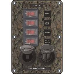 Blue sea 4324 circuit breaker switch panel 4 position camo