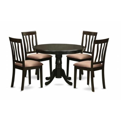 East West Furniture HLAN5-CAP-C 5 Piece Kitchen Table Set-Dining Table and 4 Dinette Chairs