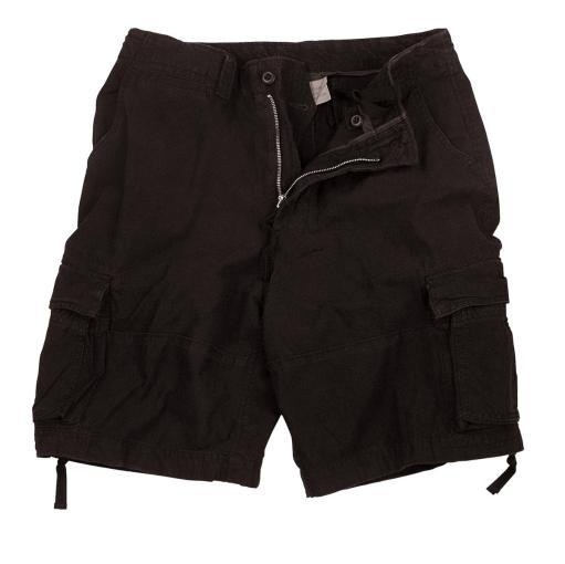 New, Vintage Black Utility Cargo Shorts in Mens Sizes