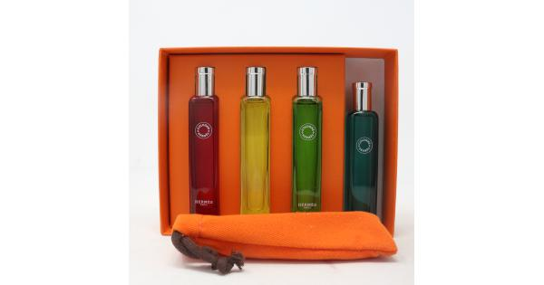 Hermes Hermes Colognes Collection 4-Pcs Travel Set  / New With Box Hermes Hermes Colognes Collection 4-Pcs Travel Set  / New With Box