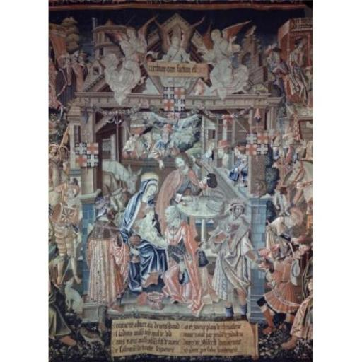 Posterazzi SAL900100604 Adoration of the Magi 16th Century Tapestry Textiles Flemish Poster Print - 18 x 24 in.