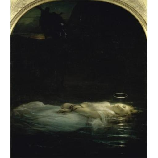 The Young Martyr, La Jeune Martyre 19th C Paul Delaroche, 1797-1856 & French Oil On Canvas Musee Du Louvre Paris Poster Print, 24 x 36 - Large