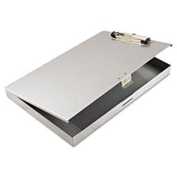 Saunders 45300 Storage Clipboard, .5 in. Capacity, 8.5w x 12h, Gray