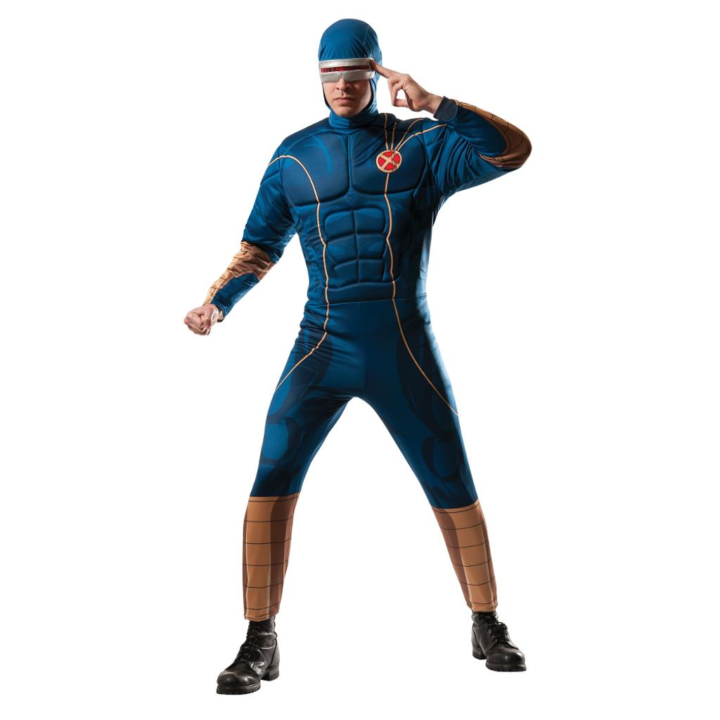Cyclops Adult Costume X-Men Superhero Body Suit Mens Marvel Comics Movie