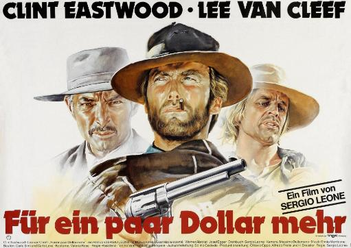 For A Few Dollars More From Left: Lee Van Cleef Clint Eastwood Klaus Kinski 1964 Movie Poster Masterprint