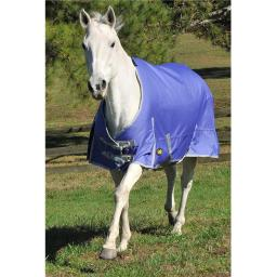 Gatsby Leather 284257 76 in. 1200 Denier Turnout Blanket for Medium Weight Horse - Purple & Silver
