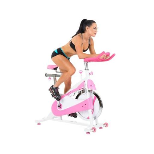 Sunny Health & Fitness P8150 Belt Drive Premium Indoor Cycling Bike, Pink