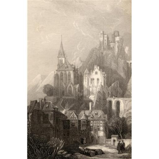 Posterazzi DPI1857581LARGE Trarbach Germany. Engraved by E.I. Roberts From A 19th Century Print by D. Roberts Poster Print, Large - 24 x 36