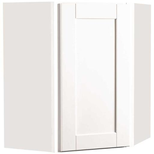 Continental Cabinets Cbkwd2430-Ssw Rsi Home Products Andover Shaker Corner Wall Cabinet White 24X30 In.