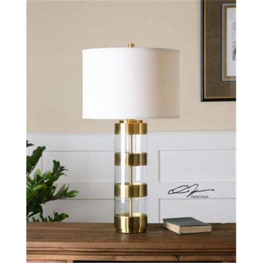 Uttermost 26669-1 Angora Brushed Brass Table Lamp